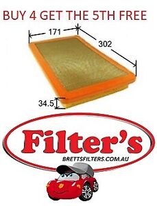 AIR FILTER ALFA ROMEO 33 1.7L B1G B1H AR30747 KW:95 1990-9/1994 JS FILTERS