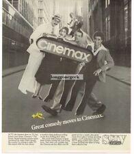1983 SCTV on CINEMAX Eugene Levy Martin Short (Ed Grimley) TV Promo Vtg Print Ad