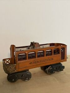 LIONEL PREWAR 604 ORANGE OBSERVATION ORIG GOOD COND 1920-25 survivor