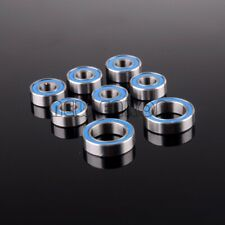 8Pcs KIT Ball Bearing Metric Blue Rubber Sealed For Axial SCX10 AXLE AXA1221/30