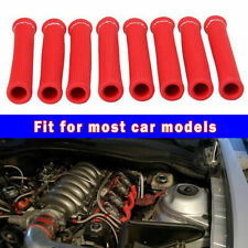Red 8Pcs 2500° Spark Plug Wire Boots Protectors Sleeve Heat Shield Cover For BBC