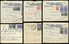 ITALY 1950-1 COMMEM.MULTI FRANKING ADVERT ENVS..FRUITERER..20 stamps on 6 COVERS