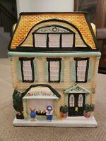 "Sherwood Brands Ceramic Cookie Jar ""The Sweet Shop"", 1999,Christmas Village"