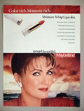 Maybelline Whip Lipcolor Lipstick PRINT AD - 1990 ~ Lynda Carter ~ Wonder Woman