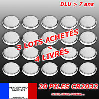 LOT   x 20 Pile bouton CR2032 Lithium PC calculatrice télécommande
