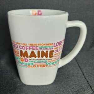 Dunkin Donuts MAINE 12oz Coffee Mug Cup  2016