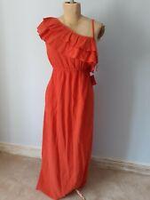 Asos one shoulder burnt orange maternity pregnancy maxi dress. BNWT. Size 12