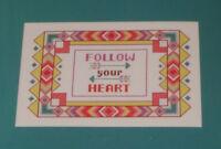 Zweigart Artiste Counted Cross Stitch Kit Follow Your Heart 14 Count Aida