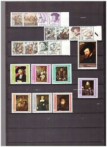 s16254) RUBENS PAINTINGS QUADRI MNH** 1977 India Bulgaria Spain 17v