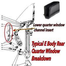 Cuda Challenger Barracuda 70 71 72 73 74 CORRECT Rear Quarter Window Channel