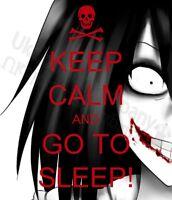 Divertido Keep Calm & Go To Sleep t-shirt-womens Hombre S M L XL 2xl 3xl 4xl