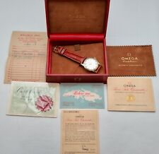 1959 OMEGA CONSTELLATION PIE PAN CROSS HAIRS DIAL ORIGINAL BOX & PAPERS CAL.561