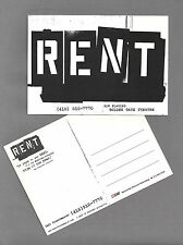 "Jonathan Larson ""RENT"" Daphne Rubin-Vega 1999 San Francisco Promotional Postcard"