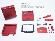 Flame Red Nintendo Game Boy Advance SP GBA Case Casing Shell Housing Tool serial