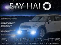 White Halo Fog Lamps Angel Eye Driving Light Kit For 2011-2016 Mini Countryman