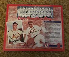 1996 St. Louis Cardinals Enos Slaughter Day SGA 9/6/1996 Lithograph Print Litho