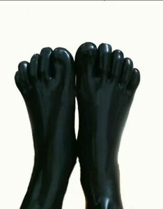 Rubber Latex Fashion Toe Socks Compression Molded Over Ankle Sock 0.4mm S-XXL