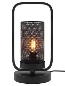 Vintage Industrial Table Lamp Black Metal Net Lantern Retro Barn E14 Lamp M0233