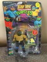 Playmates 1994 TEENAGE MUTANT NINJA TURTLES STAR TREK Captain Leonardo TMNT
