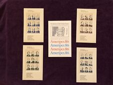 "1986 ""Ameripex 86"" Presidents of the United States Stamp Set"