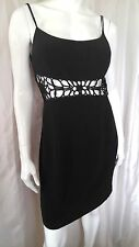 NWT CACHE Sexy Black Cut Out Waist Cocktail Dress LBD  10  M-L