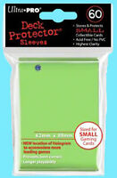 60 Ultra Pro LIME GREEN DECK PROTECTOR Small Size Gaming Card Sleeves NEW Yugioh