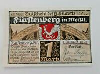 FÜRSTENBERG NOTGELD 1 MARK 1921 NOTGELDSCHEIN (12103)