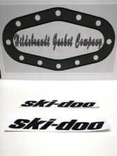 "SKI-DOO STICKERS 8"" GLOSS BLACK (2 FOR 1 SALE $7.99) LAPTOP WALL DECALS"