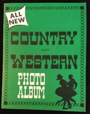 ALL NEW COUNTRY AND WESTERN PHOTO ALBUM 91 INDIVIDUAL PHOTOS 1950's JOHNNY CASH
