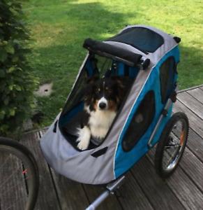 NEW Dog Bike Trailer & Stroller Secure Travel Pet Buggy Waterproof Warm Cabin