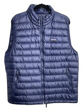 Patagonia Mens XL Down Sweater Puffer Vest Navy Blue