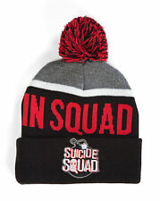 DC Comics Suicide Squad We Trust in Squad Pom Beanie Hat