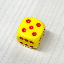 Chessex Dadi Dado Dice D6 facce Giallo con puntini Rossi risiko monopoli mtg