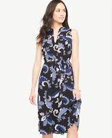 88% OFF! NWT Ann Taylor Sleeveless Paisley Flare Midi Dress  $159.00 NEW  Blue