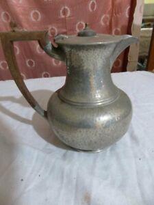 Hand Hammered English Pewter Coffee Pot Fenton bros. Sheffield