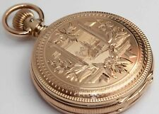 Antique & Ornate 14K Gold Illinois Hunting Case Pocket Watch, EXCEPTIONALLY FINE