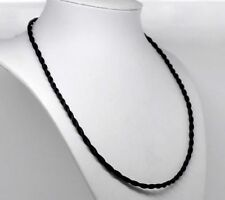 """Necklace Twisted Rope Cord Black Terylene 65cm(25-5/8"""") x 4"""