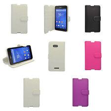 Hülle Für Sony Xperia E4g Klappetui PU Leder Ständer Kartenschlitz Tasche Cover