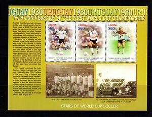 Liberia #2362 (2005 FIFA World Cup Soccer sheet of three) VFMNH CV $10.00