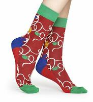 HAPPY SOCKS Mens or Womens Xmas Christmas Sparkly Lights > UK 7½-11½ EU 41-46