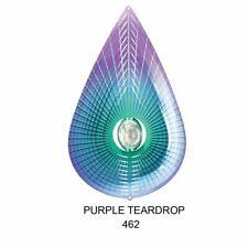 """Metal Wind Spinners- 12"""" Purple Crystal Teardrops Metal Wind Spinner--FREE SHIP"""