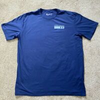 Under Armour Mens Athletic Heat Gear T-Shirt Blue Active/Training  Excellent
