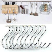 Set of 10 Hanging Rack Hooks S Stellar Mild Steel Kitchen Room 80mm