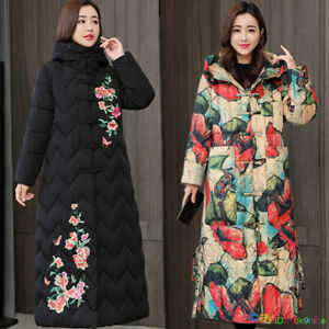 New Style Womens Quilted Winter Hooded Puffer Ladies Warm Parka Jacket Coat