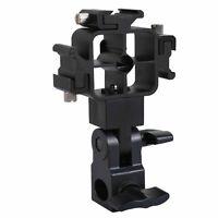 Tri-Hot Shoe Mount Flash Bracket Umbrella Holder for Nikon Canon  SKU-405002