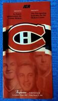MONTREAL CANADIENS MOLSON (Bell) CENTRE PRE-OPENING PROGRAM - March 15th,1996