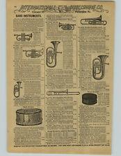 1897 PAPER AD Cornet Trombone Bass Schoenhut Toy Piano Xylophone Bells