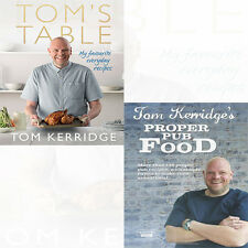 Tom's Table Recipes,Proper Pub Food Tom Kerridge Collection New 2 Cook Books Set