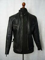 Men's 1960's Original Cafe Racer Vintage Leather Motorcycle Jacket 42R (M)