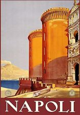 A3 Travel Art Poster Napoli Italy  Naples  print